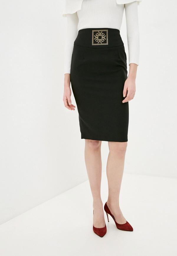 женская зауженные юбка rinascimento, черная