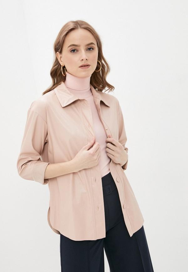 женская рубашка с длинным рукавом rinascimento, розовая