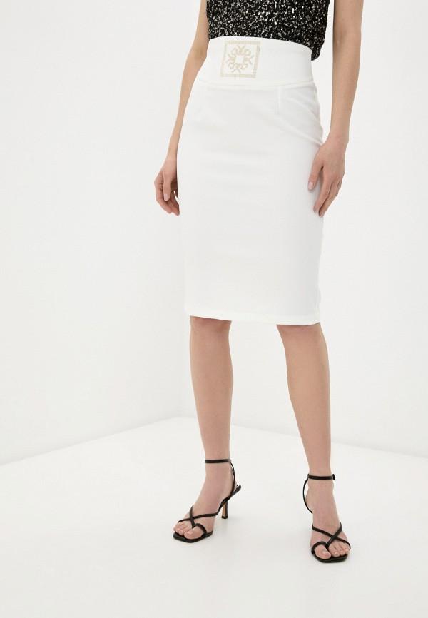 женская зауженные юбка rinascimento, белая
