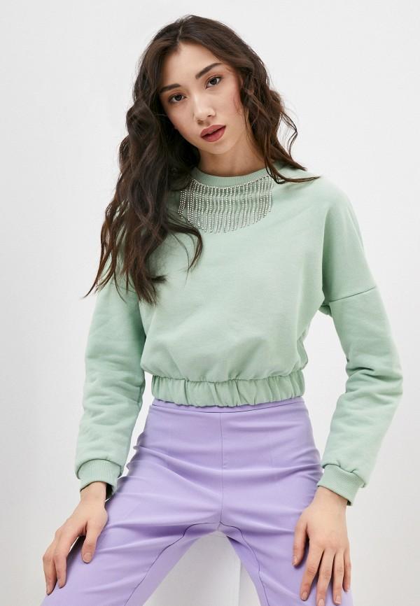 женский свитшот rinascimento, зеленый