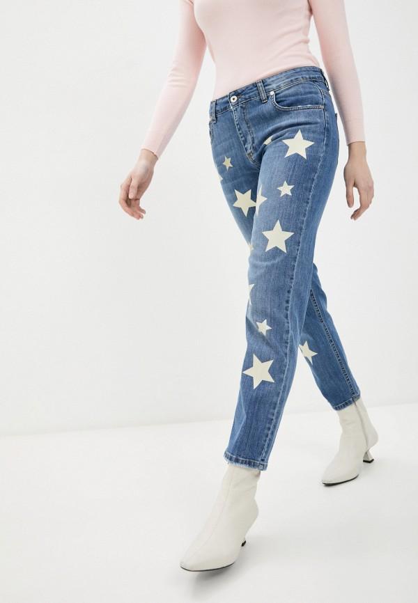 женские прямые джинсы rinascimento, синие