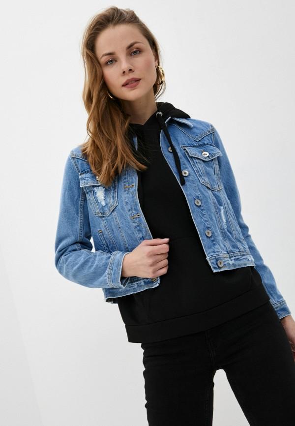 женская джинсовые куртка rinascimento, голубая