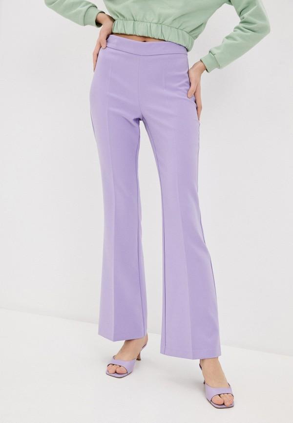 женские повседневные брюки rinascimento, фиолетовые