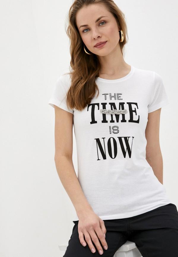 женская футболка rinascimento, белая