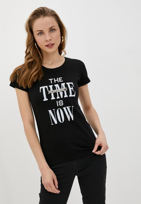 женская футболка rinascimento, черная