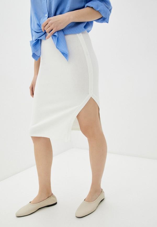 женская зауженные юбка rinascimento, бежевая