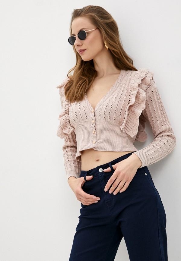 женский кардиган rinascimento, розовый