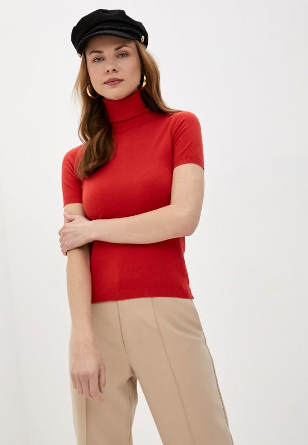женская водолазка rinascimento, красная