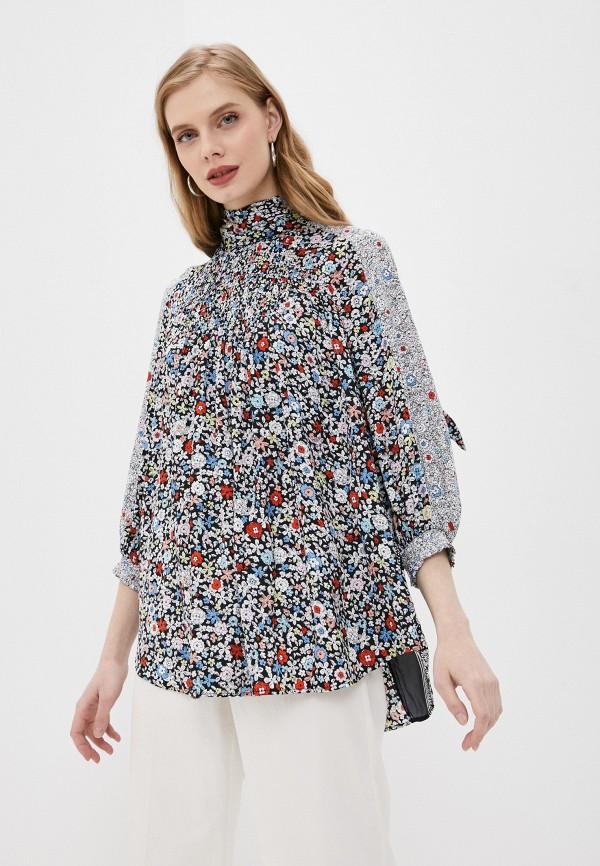 женская блузка с длинным рукавом see by chloe, разноцветная