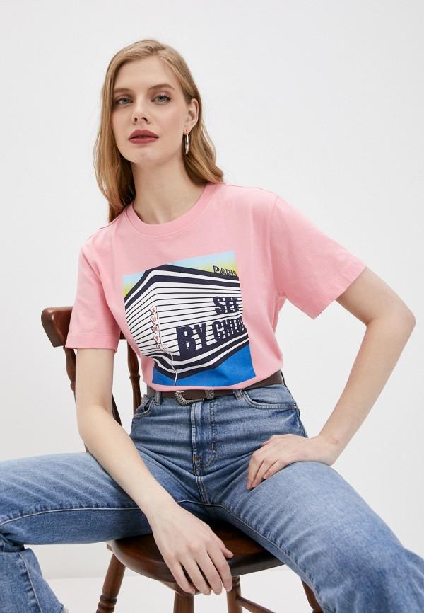 женская футболка see by chloe, розовая