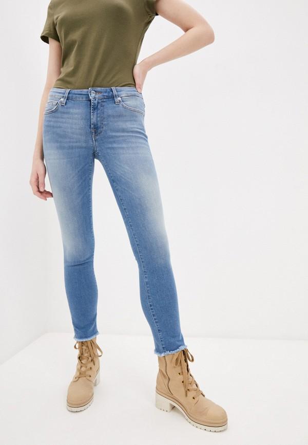 женские джинсы 7 for all mankind, голубые