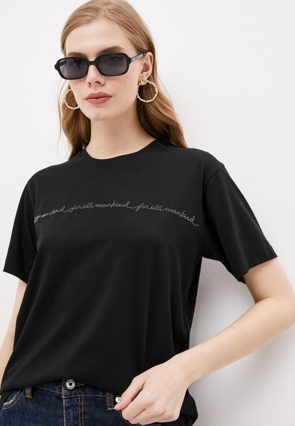 женская футболка 7 for all mankind, черная