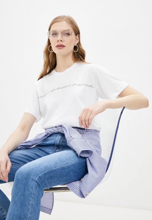 женская футболка 7 for all mankind, белая