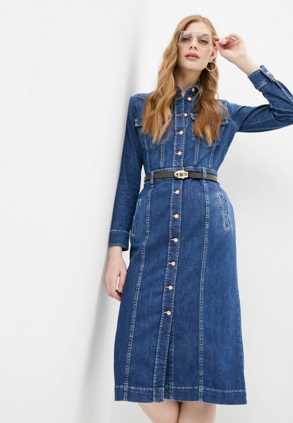 женское джинсовые платье 7 for all mankind, синее