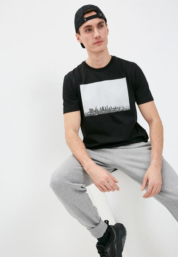 мужская футболка 7 for all mankind, черная