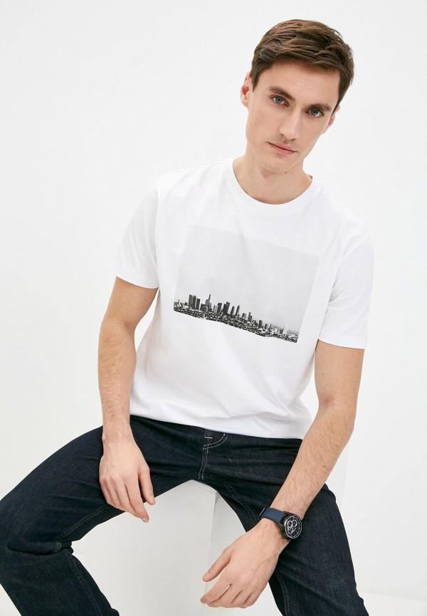 мужская футболка 7 for all mankind, бежевая