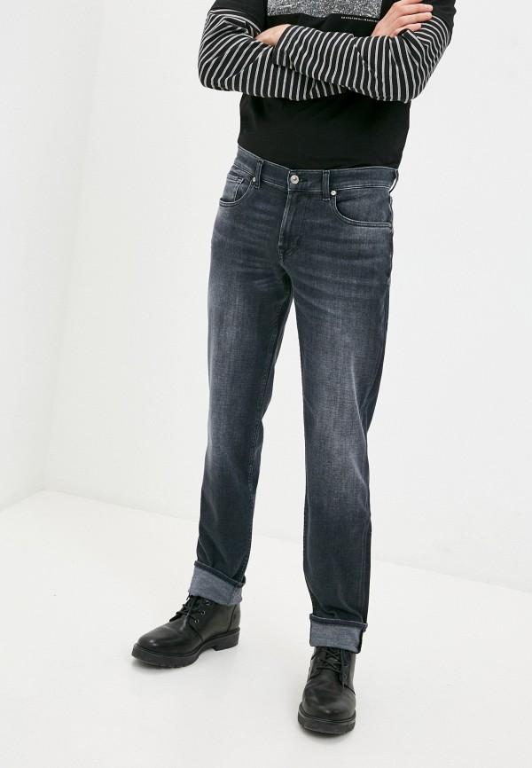 мужские прямые джинсы 7 for all mankind, черные