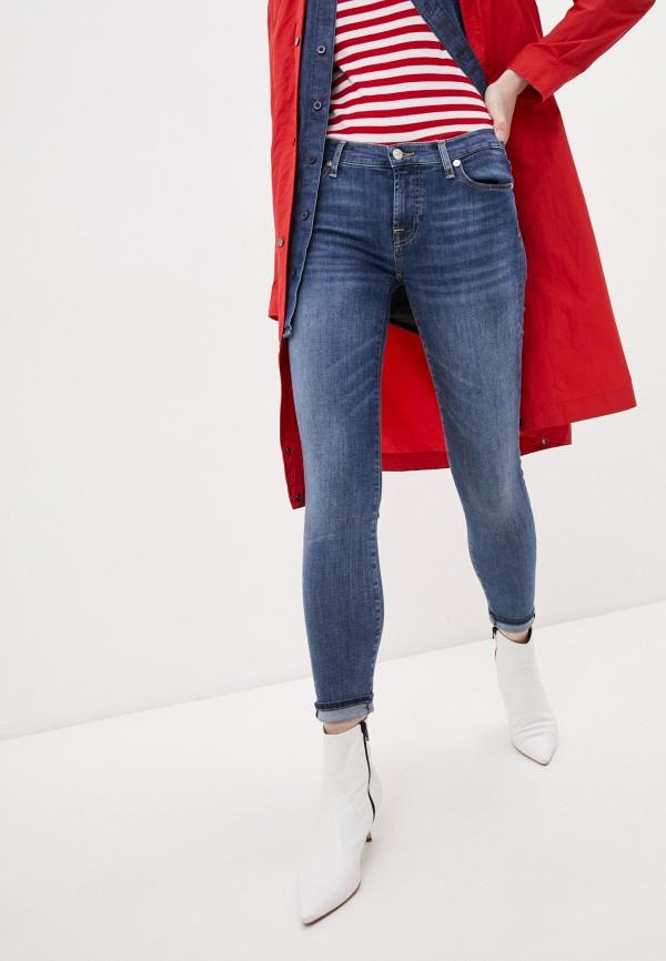 женские джинсы 7 for all mankind, синие