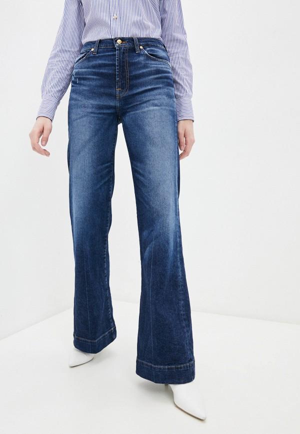 женские джинсы клеш 7 for all mankind, синие