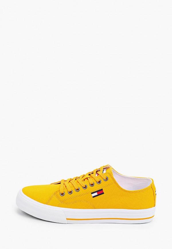 мужские кеды tommy jeans, желтые
