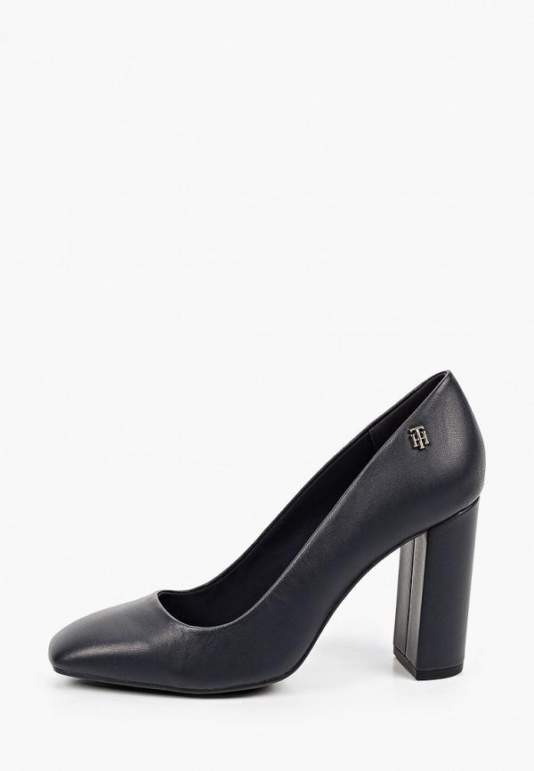 женские туфли с закрытым носом tommy hilfiger, синие