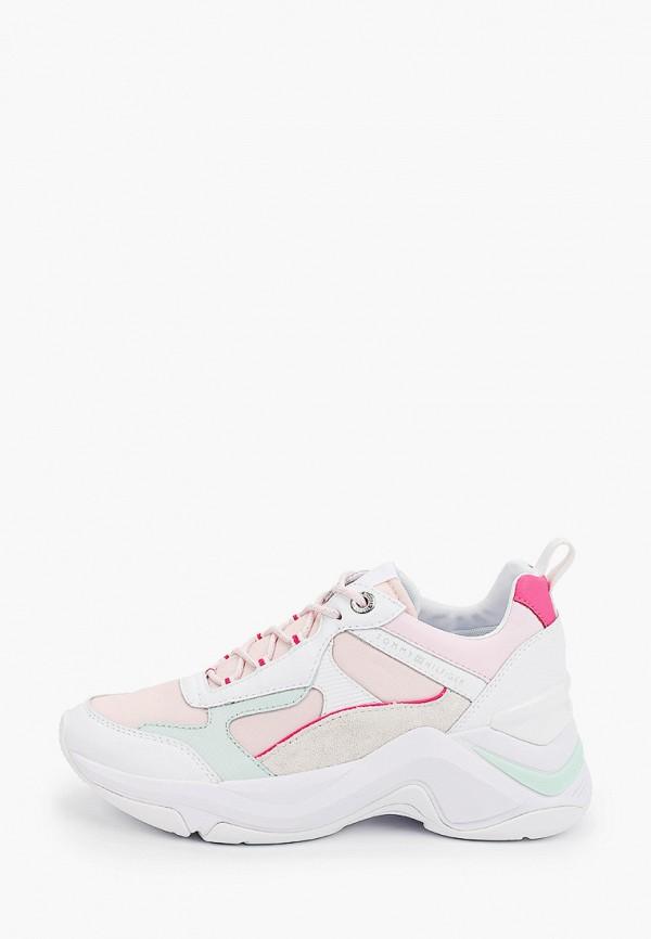 женские низкие кроссовки tommy hilfiger, разноцветные