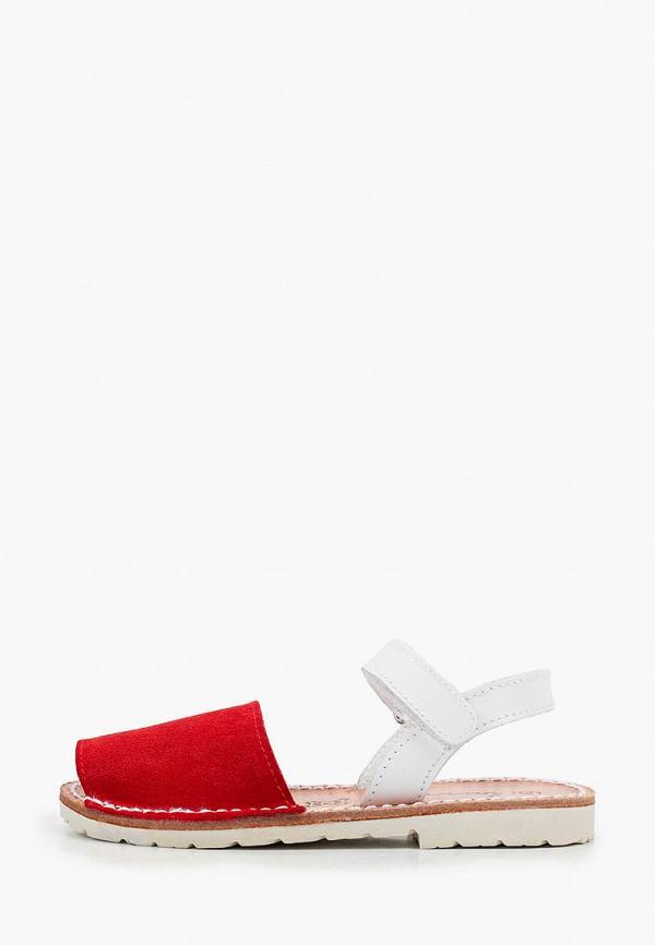 сандалии barritos для девочки, красные