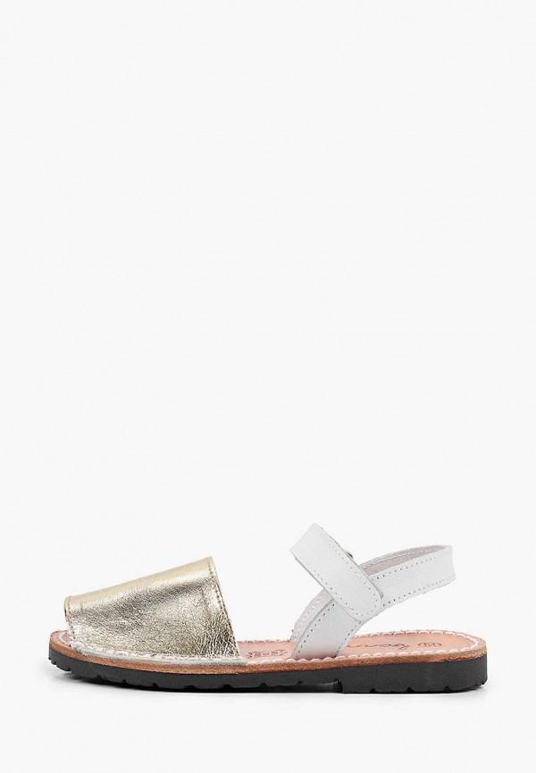 сандалии barritos для девочки, золотые