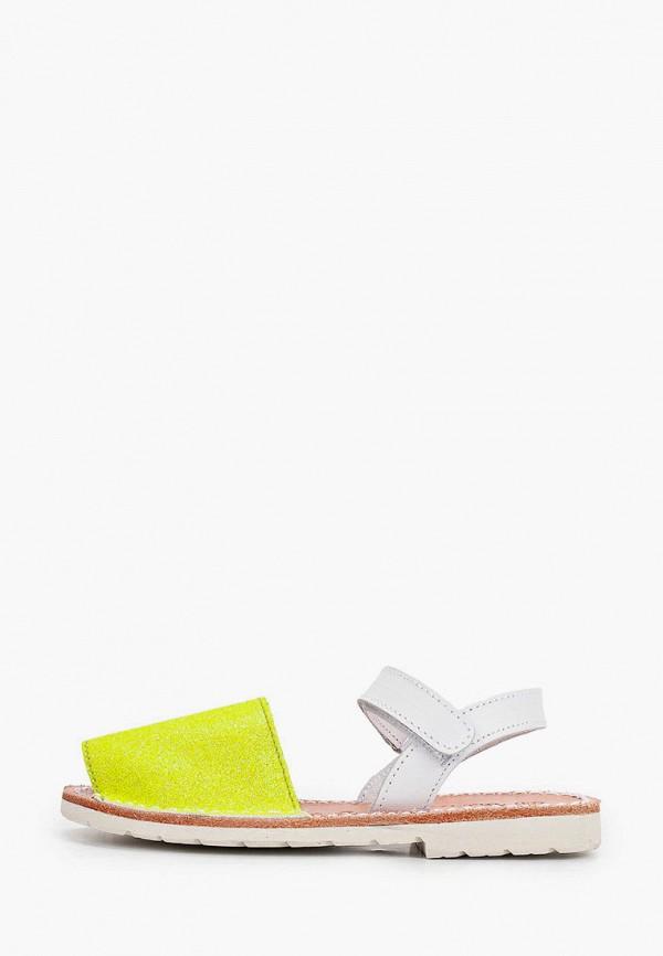сандалии barritos для девочки, желтые