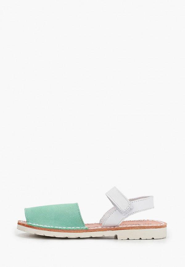 сандалии barritos для девочки, зеленые