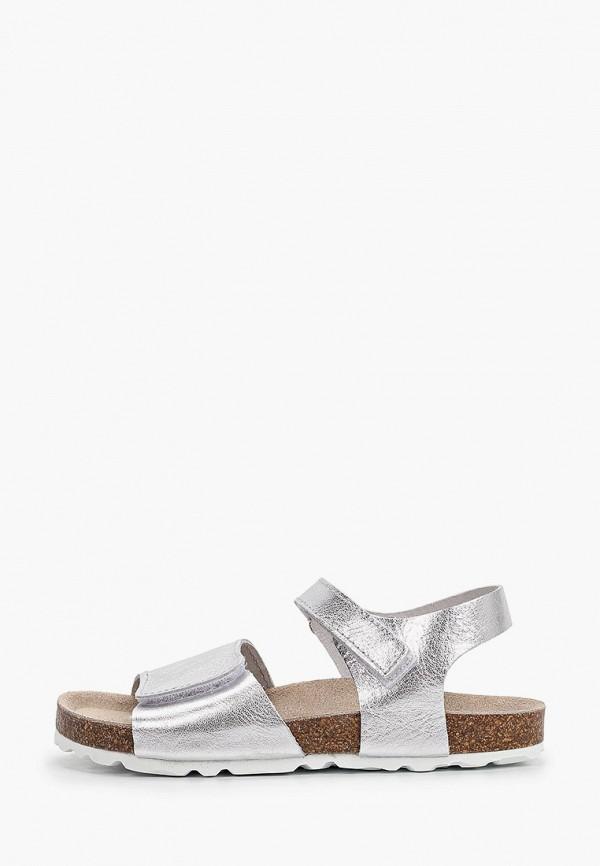 сандалии barritos для девочки, серебряные