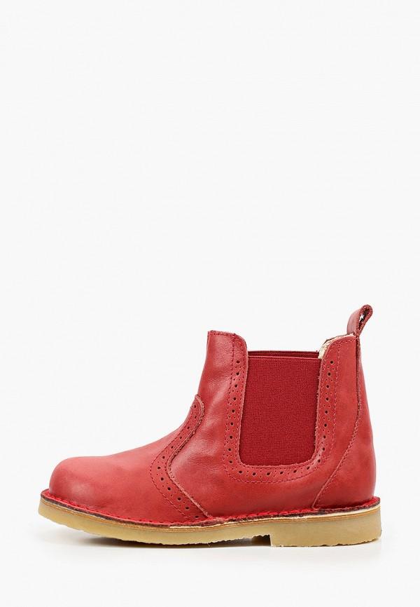 ботинки barritos для девочки, красные