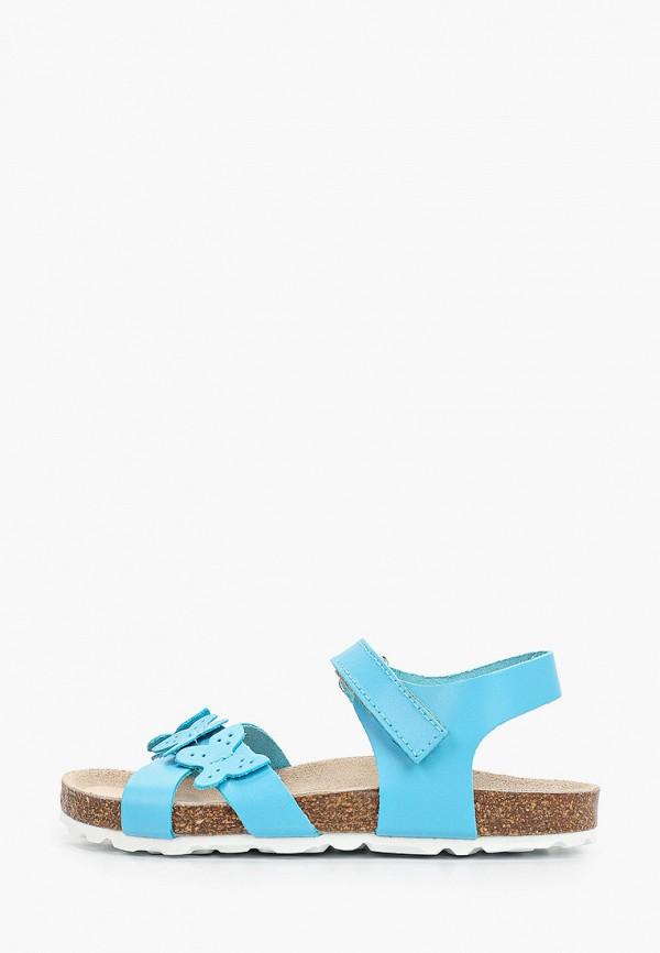 сандалии barritos для девочки, голубые