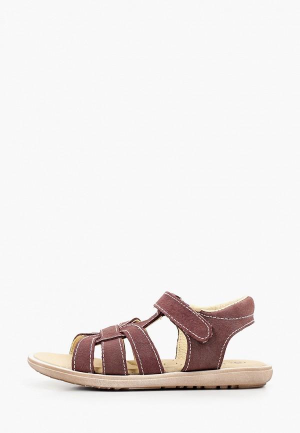 сандалии barritos для девочки, коричневые