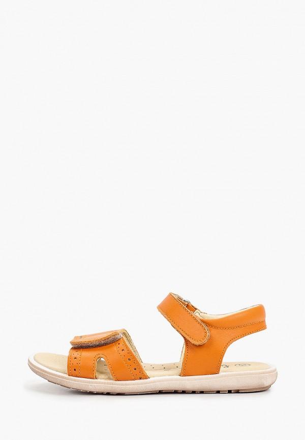 сандалии barritos для девочки, оранжевые
