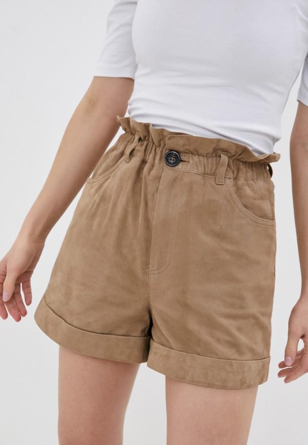 женские повседневные шорты oakwood, коричневые