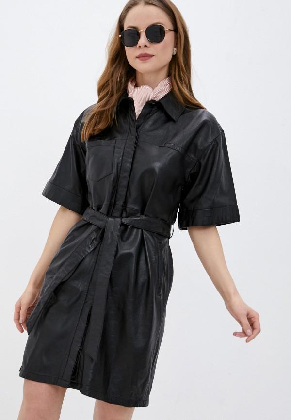 женское платье oakwood, черное