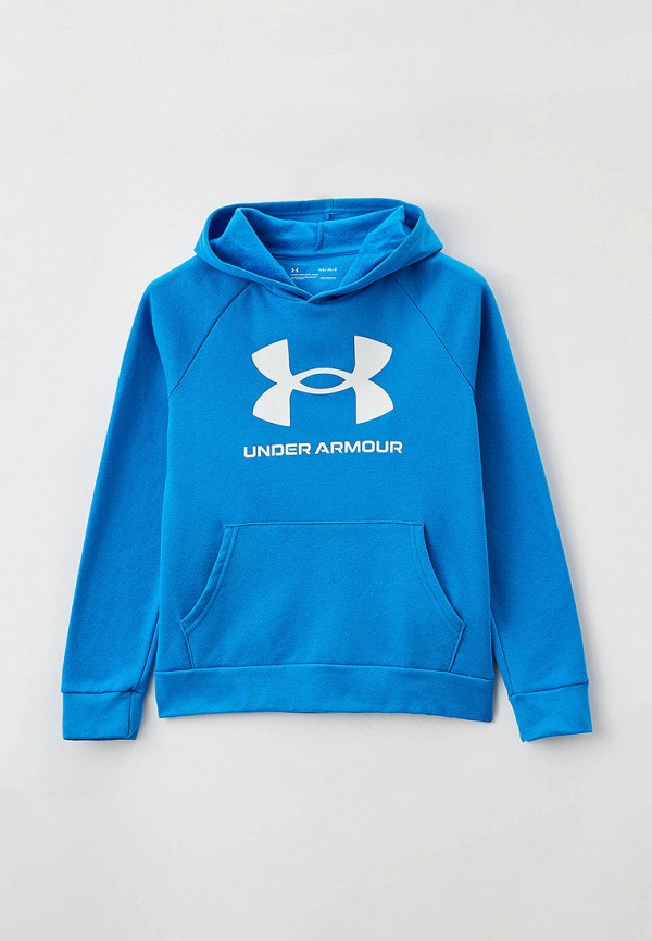 худи under armour для мальчика, голубые