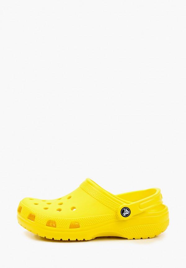 женское сабо crocs, желтое