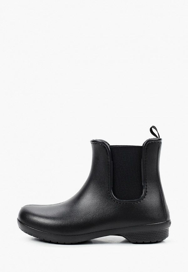 женские ботинки crocs, черные