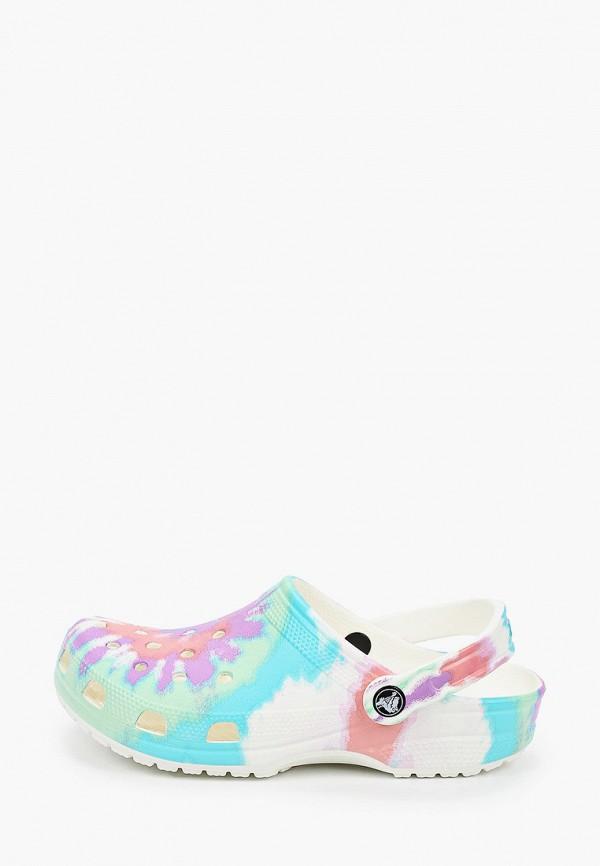 женское сабо crocs, разноцветное
