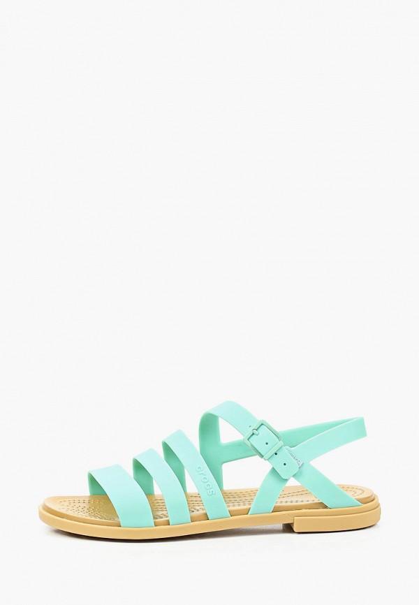 женские сандалии crocs, зеленые