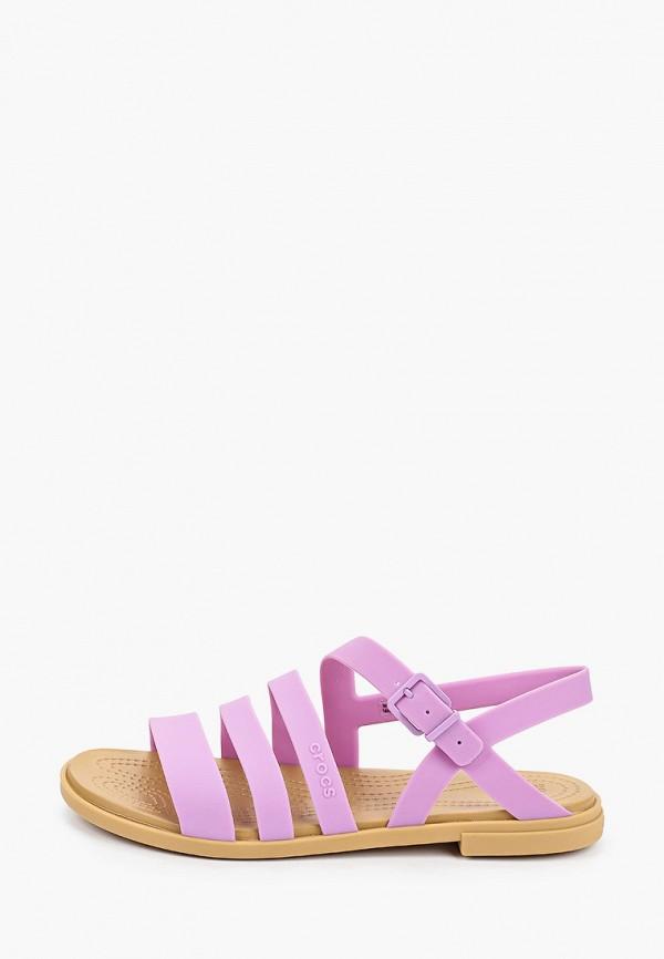 женские сандалии crocs, фиолетовые