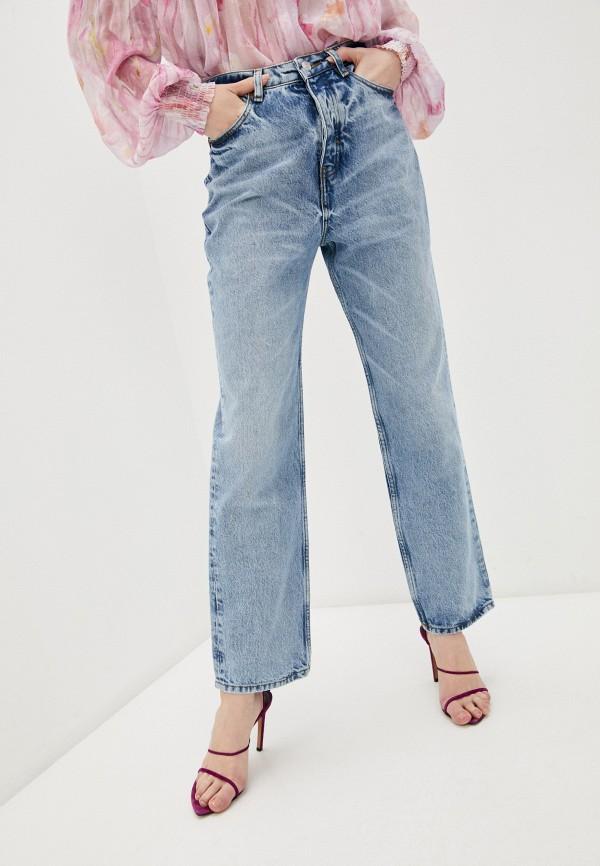 женские прямые джинсы the kooples, голубые