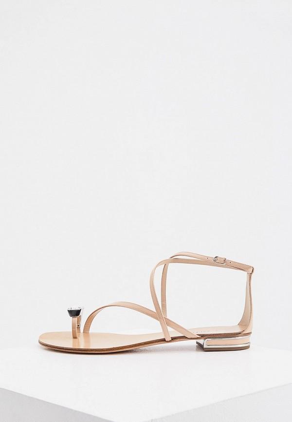 женские сандалии casadei, бежевые