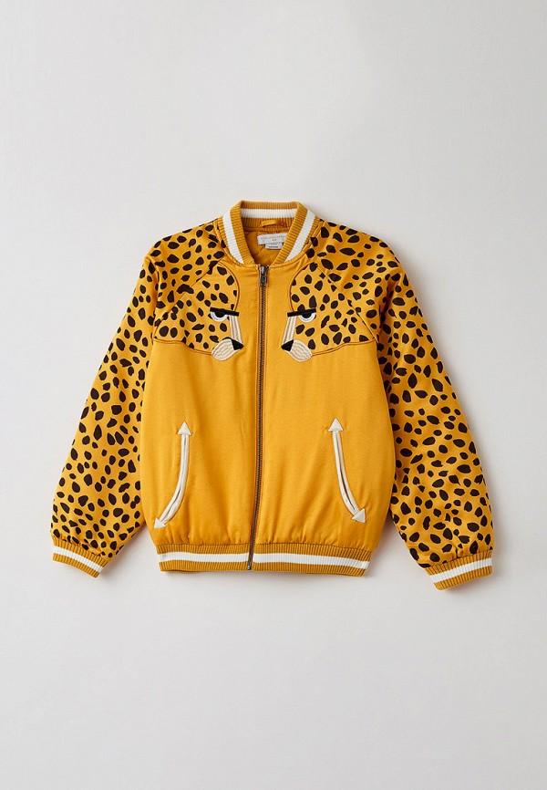куртка stella mccartney для мальчика, желтая