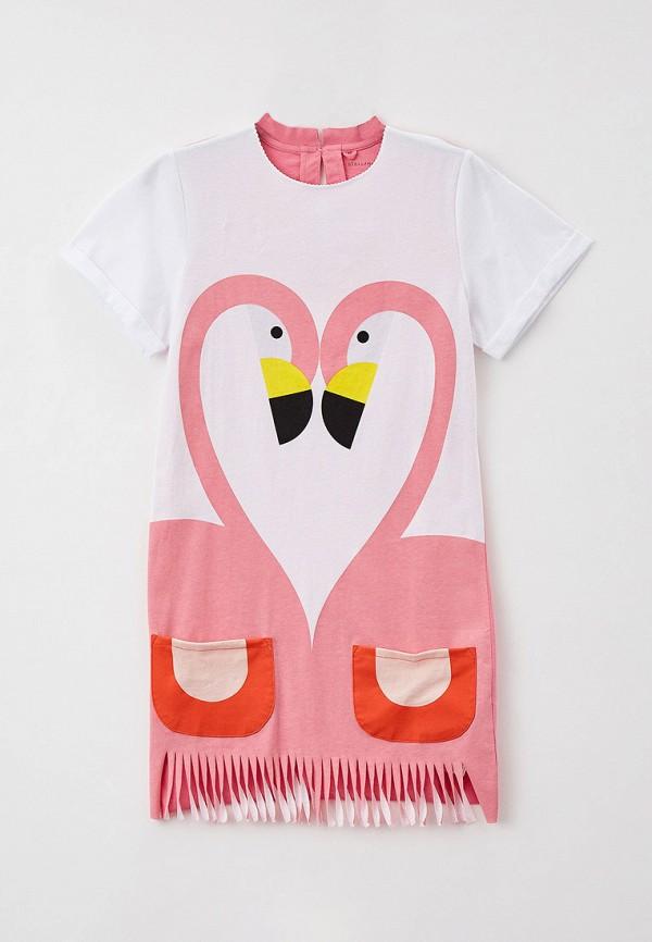 повседневные платье stella mccartney для девочки, розовое