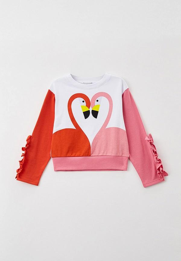 свитшот stella mccartney для девочки, разноцветный