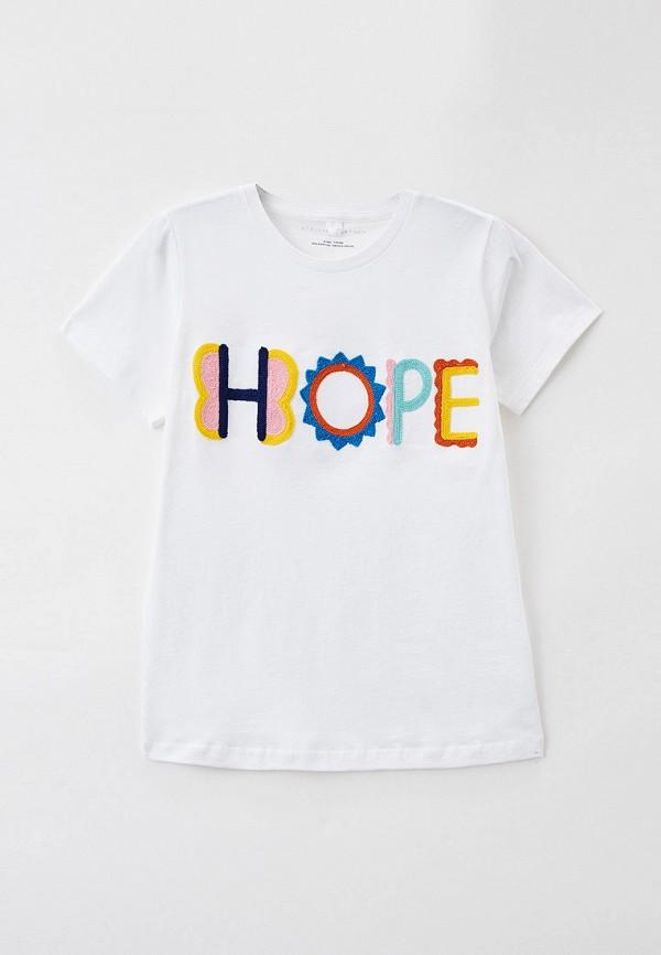 футболка с коротким рукавом stella mccartney для девочки, белая
