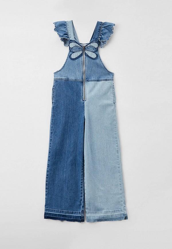 комбинезон stella mccartney для девочки, синий